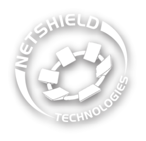 Netshield Technologies Logo White 300 Shadow